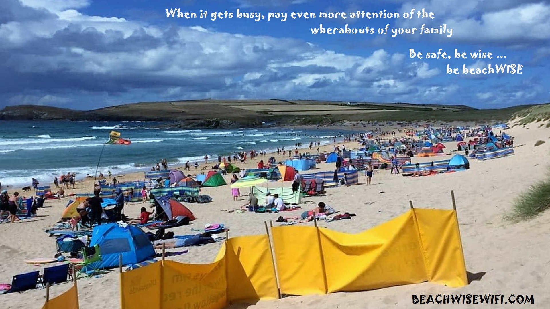 when its busy stay safe be wise be beachwise